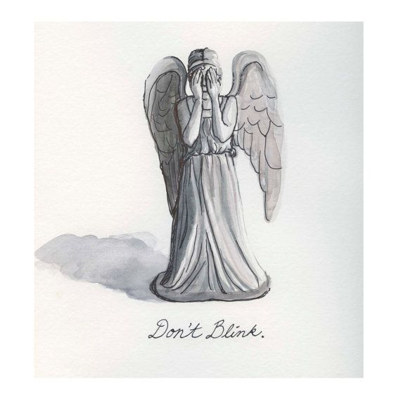Weeping Angel Dont Blink original illustration by autogeography, $70.00