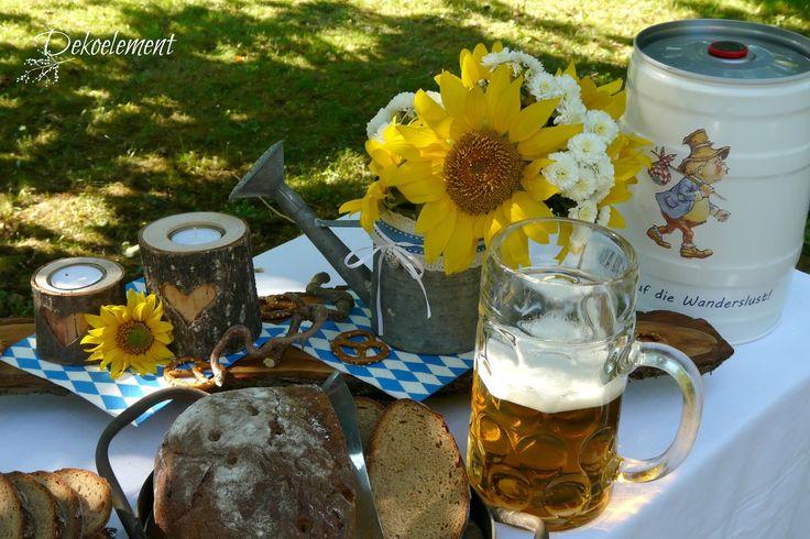 Bayrische Tischdekoration, Tischdekoration Oktoberfest, Oktoberfest, Bayrische Tradition