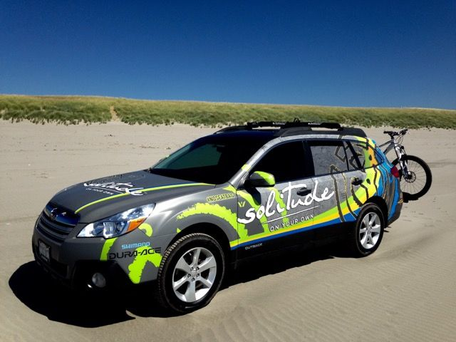 The Solitude Subaru wrapped in the DesertWrap.com Palm Desert, CA warehouse has made its way to the coastal region of Oregon! Contact DesertWraps.com about vehicle wraps. #Subaru #VehicleWrap #CarWrap #Branding #Oregon #PalmDesert #PalmSprings #Indio
