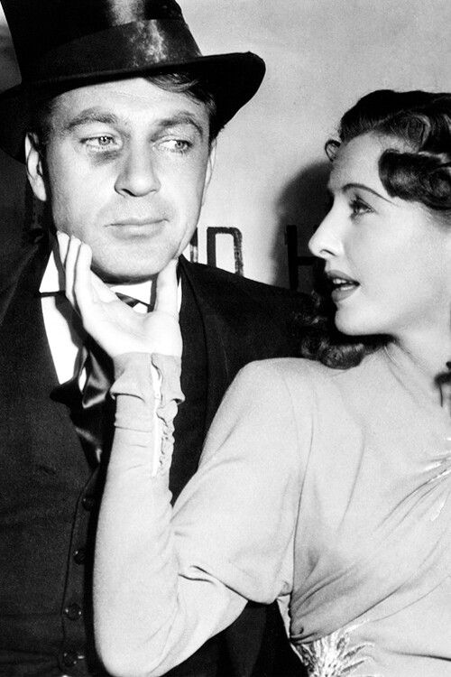 BALL OF FIRE (1941) - Gary Cooper & Barbara Stanwyck on the set x