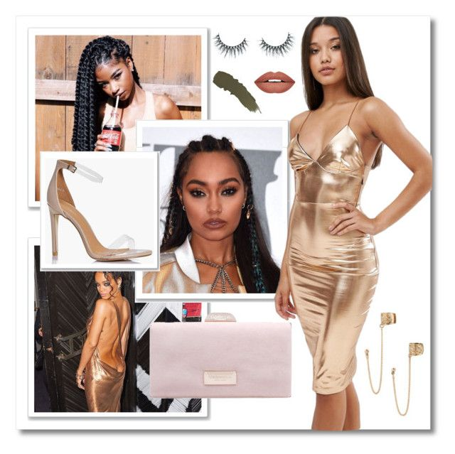 Foxy Goldmember by shareeamour on Polyvore featuring polyvore, fashion, style, Club L, Boohoo, Carvela, Topshop, Forever 21, Surratt, Unicorn Lashes and clothing