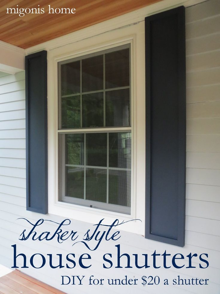1000 ideas about outdoor window shutters on pinterest - Different styles of exterior shutters ...