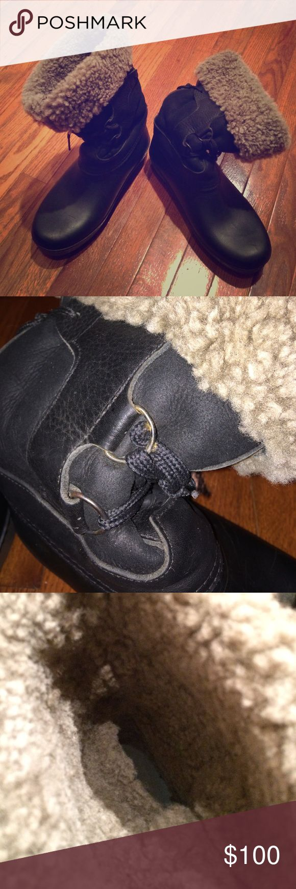 LL Bean Winter Boots Waterproof, shearling lined, leather upper, lace closure, slip on winter LL Bean brand new boots!!! Wrong size for me, unfortunately. These will make a beautiful, comfy and warm pair of boots that you can pair with your favorite winter fleece lined skinny jeans. Open to questions and offers. 🌺🐴👢👖NWOT L.L. Bean Shoes Winter & Rain Boots