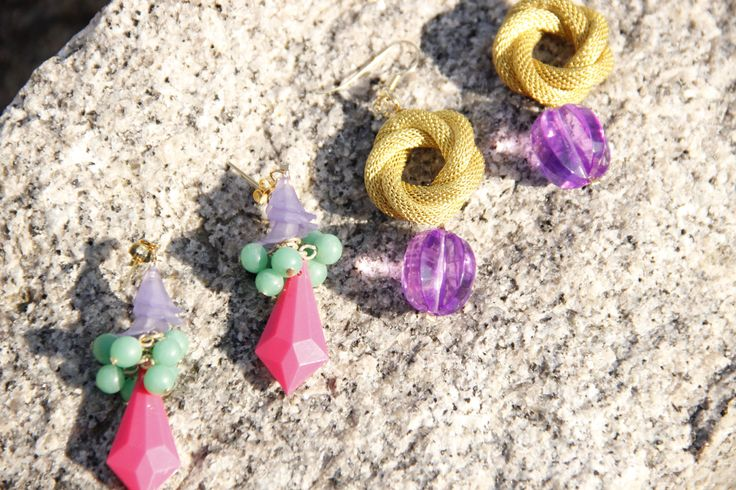 Colourful pair of spring earrings