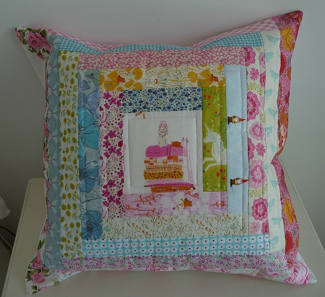 Liberty fabric - cushion by small quilts