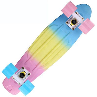 Peny Board colorful Rainbow Skateboard Complete Retro Girl Boy Cruiser Mini Longboard complete Skate Fish Long Board skate wheel