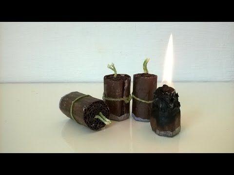 Como fazer combustível sólido e iniciador de fogo. - YouTube