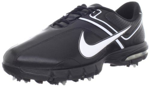 Mens Golf Shoes Idea   Nike Golf Mens Nike Air Rival 25 Plus Wide Golf ShoeBlackMetallic SilverWhite75 W US * To view further for this item, visit the image link. Note:It is Affiliate Link to Amazon.