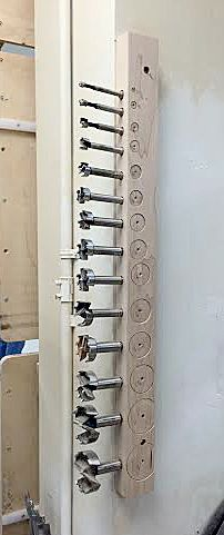 Forstner bit storage http://360woodworking.com/drill-bit-storage/