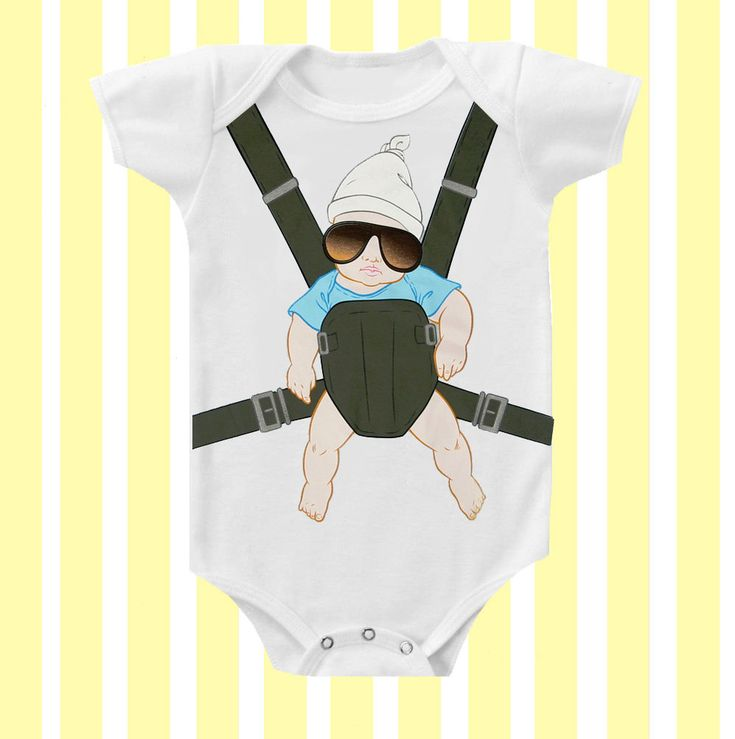 Baby Carlos Hangover Inspired  Baby Onesie Neutral by SimplyBaby. $15.95, via Etsy.