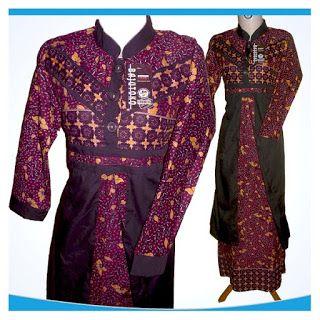 Gamis batik 0930-14 ~ Koleksi Batik GaleriPos