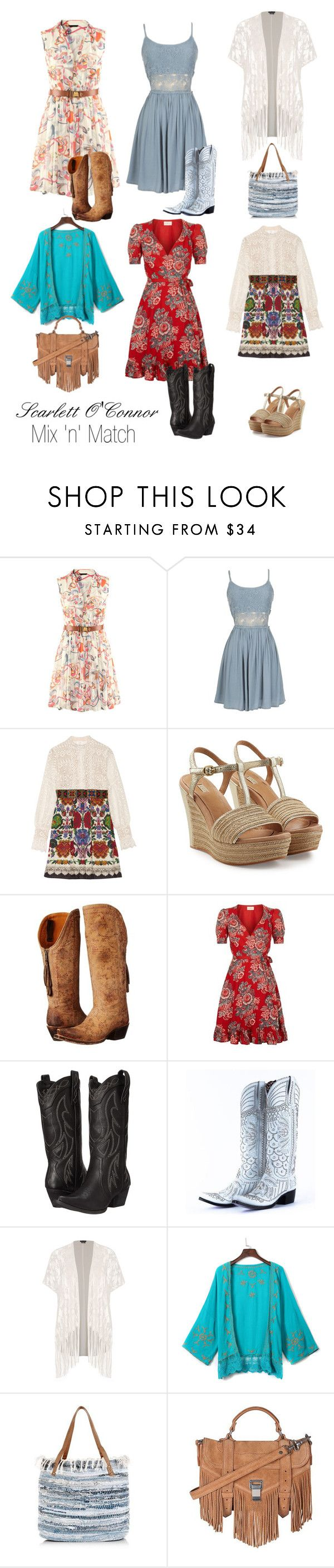 """Nashvile - Scarlett O'Connor"" by atak-kat on Polyvore featuring Anna Sui, UGG Australia, Lucchese, Denim & Supply by Ralph Lauren, Volatile, City Chic, WithChic, Proenza Schouler and country"
