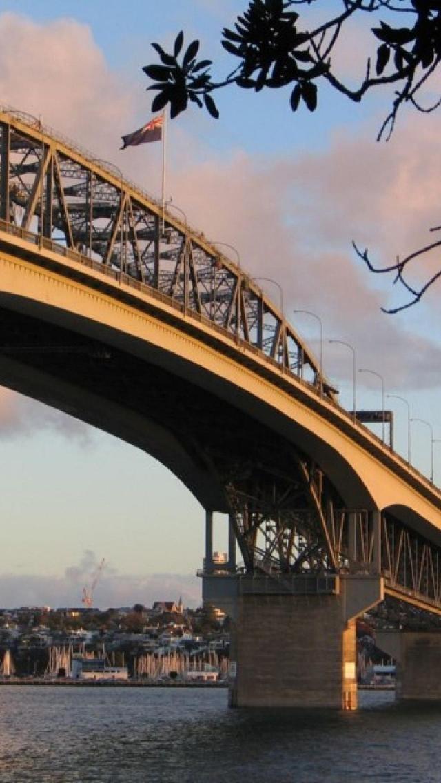 Auckland Harbour Bridge, North Island, New Zealand,