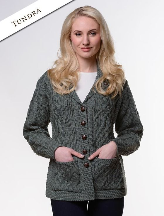 ef4e9f75ec Revere Button Collar Aran Cardigan in 2019 | E.T.H. | Buttons ...