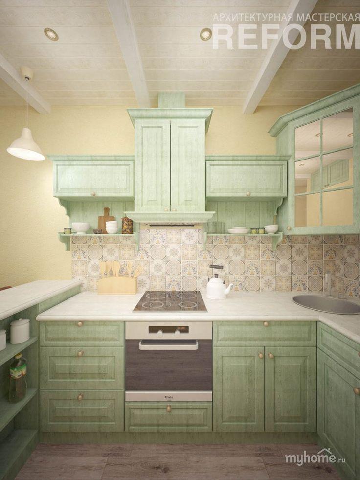 Квартира в средиземноморском стиле. Кухня