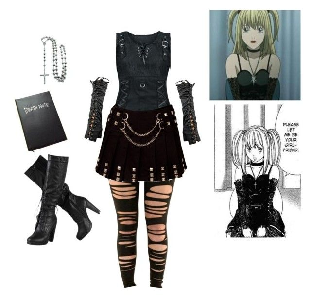 """""""Misa Amane cosplay"""" by tackyteeth ❤ liked on Polyvore featuring Misa, Eternally Haute, deathnote and misaamane"""