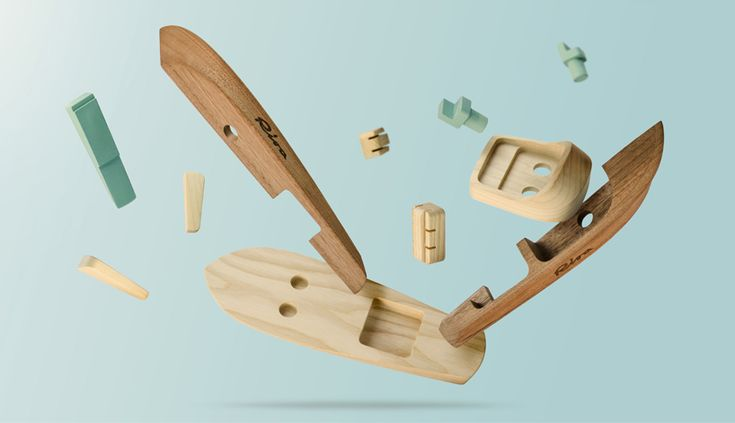 he iconic italian shipbuilding company, riva has presented a family of wooden building toy boats designed by madeindreams.
