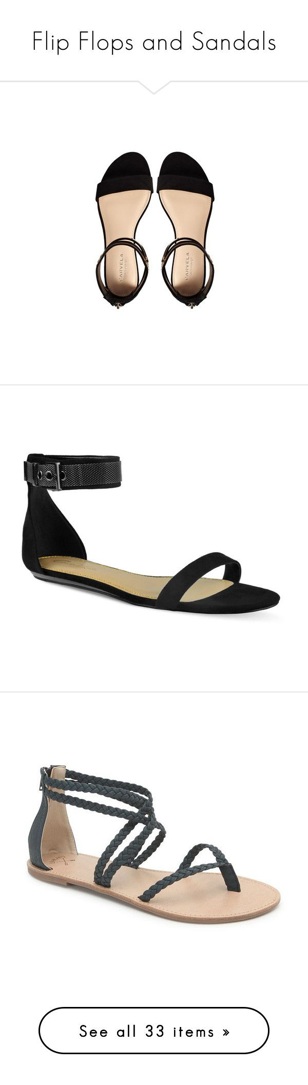 """Flip Flops and Sandals"" by esther-rosa ❤ liked on Polyvore featuring shoes, sandals, flats, sapato, flats sandals, flat heel shoes, flat sandals, carvela shoes, flat shoes and sapatos"