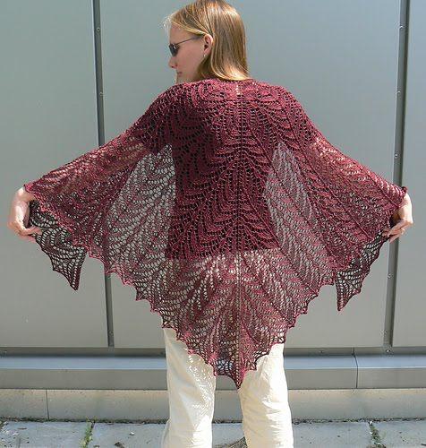 garden of alla shawl, knitting patterns - crafts ideas - crafts for kids