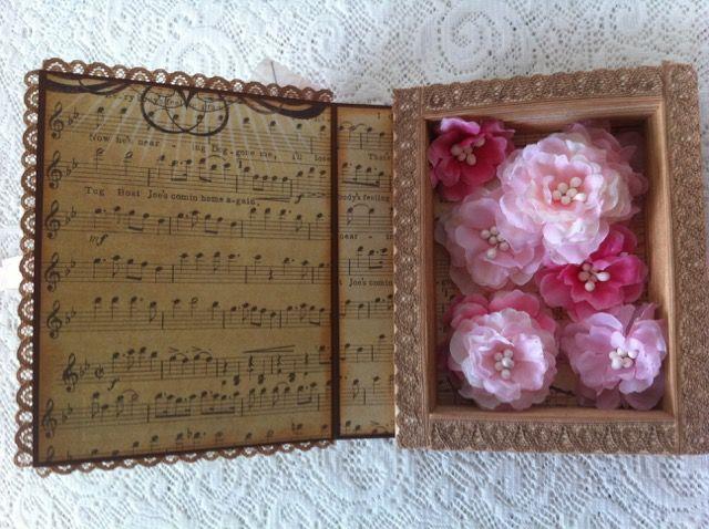 handmade paper box w.flowers