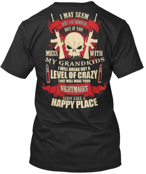 Dont Mess With My Kids Hoodie Black T-Shirt Back