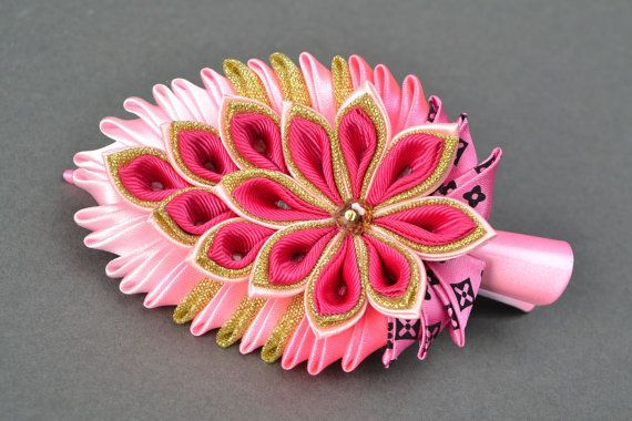 Hey, I found this really awesome Etsy listing at https://www.etsy.com/listing/230544153/kanzashi-rep-ribbon-hair-clip