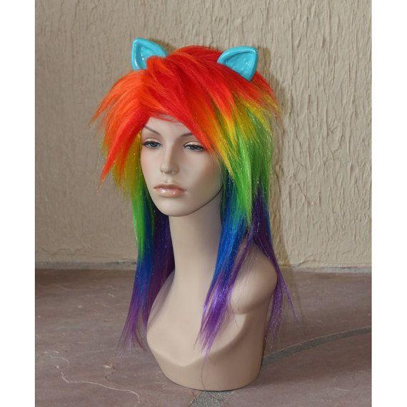 HALLOWEEN- Rainbow Dash cosplay costume wig - My Little Pony - Friendship is Magic