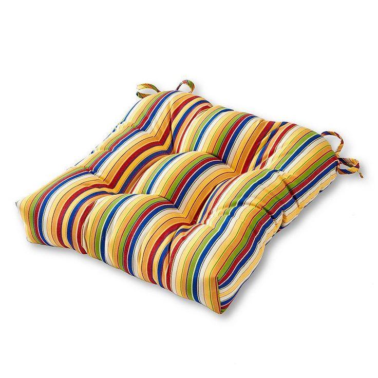 Greendale Home Fashions Square Sunbrella Outdoor Chair Pad, Multicolor
