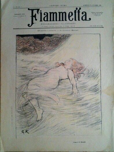 #FIAMMETTA ,  Cover by Giorgio  Kienerk