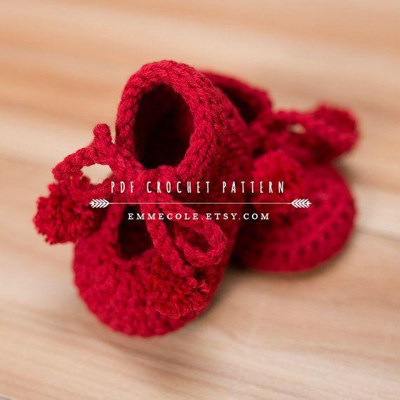 Crochet Pattern per Baby Booties, Booties Pattern, bambino stivali modello, modello Boot Crochet, DOWNLOAD immediato