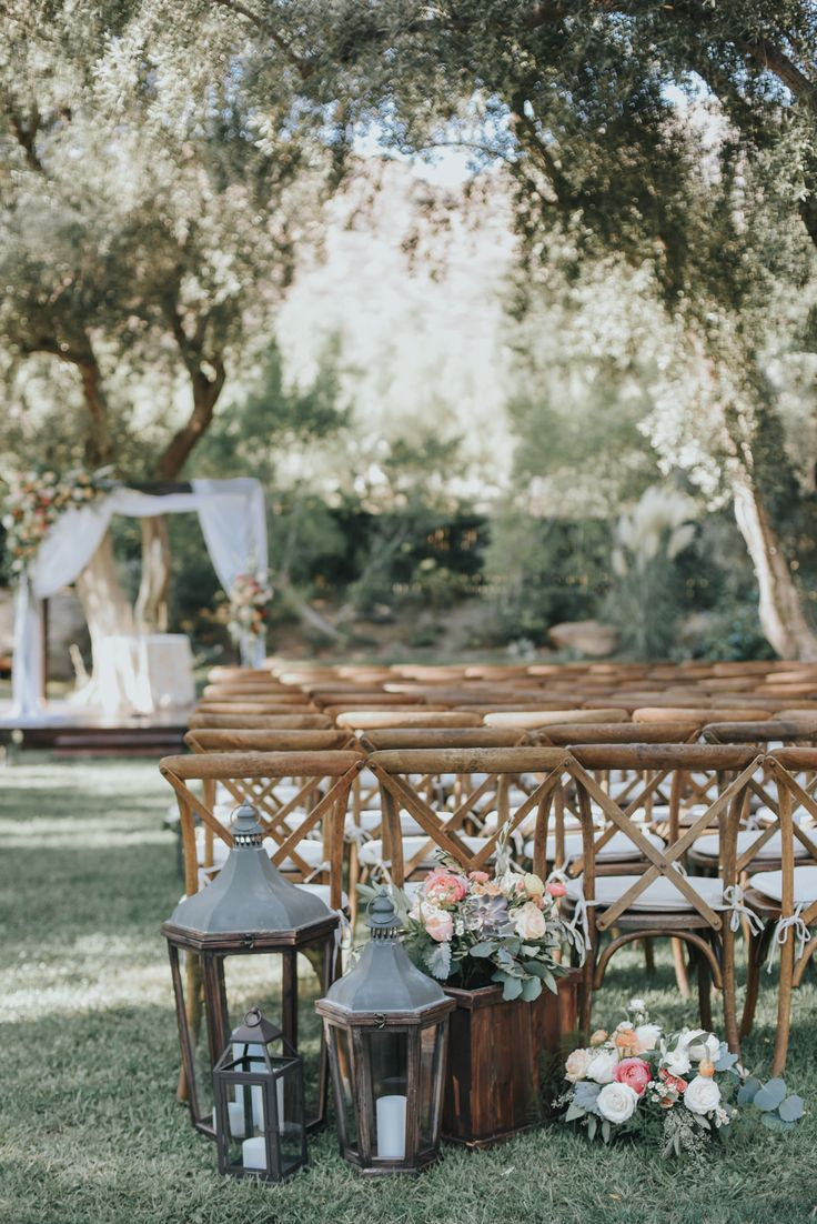 Modern Garden Wedding at Hummingbird Nest Ranch Photographed by Jenny Smith & Co. Snippet & Ink