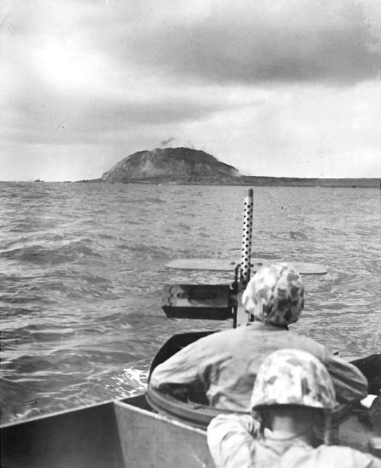 Iwo Jima landing beach, 19 February, 1945.