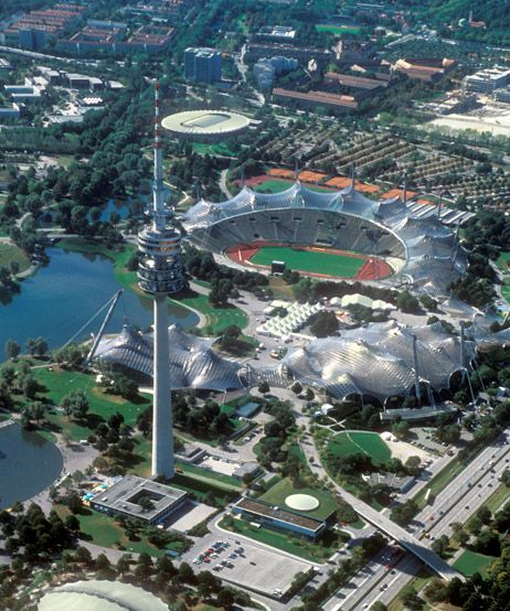 Olympiapark in Munich, Germany; took a tour here...