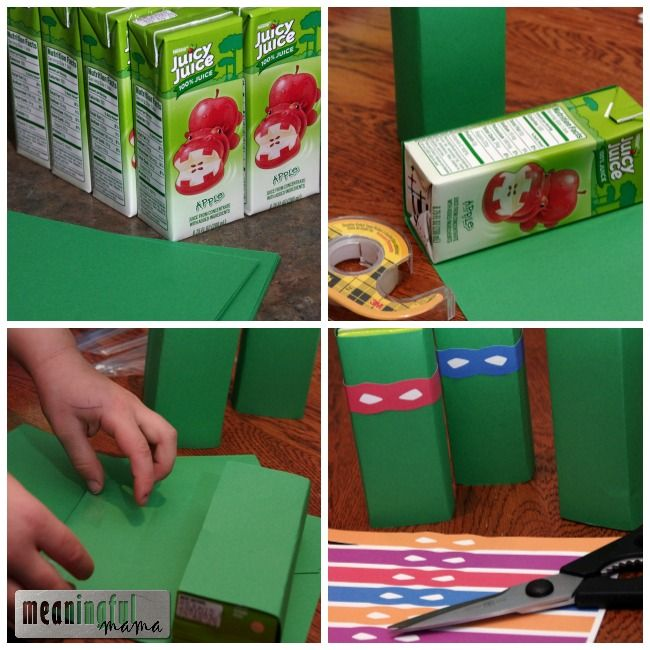 teenage mutant ninja turtle juice boxes printable
