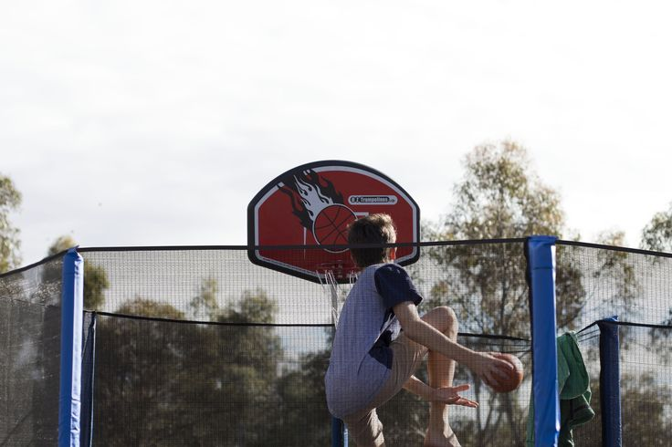 Slam Dunk your way to the top and become a basketball champion with the Oz Trampolines Basketball kit #basketballkit #slamdunk #oztrampolines #trampoline