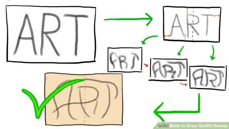 Image titled Draw Graffiti Names Step 1 preview