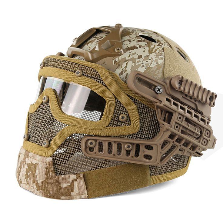 G4 Sistema Táctico Fullface Casco Militar Con Protección Goggle PJ y Cara De Malla Máscara de Airsoft Cascos para Juego de Guerra