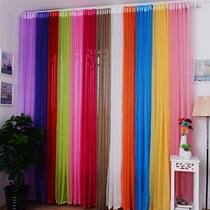 Mode Neue Schabracken Farben Floral Tulle Voile Fenster Vorhnge Drapieren Steuerung Sheer Hause Wohnzimmer Schlafzimmer Windows Billig