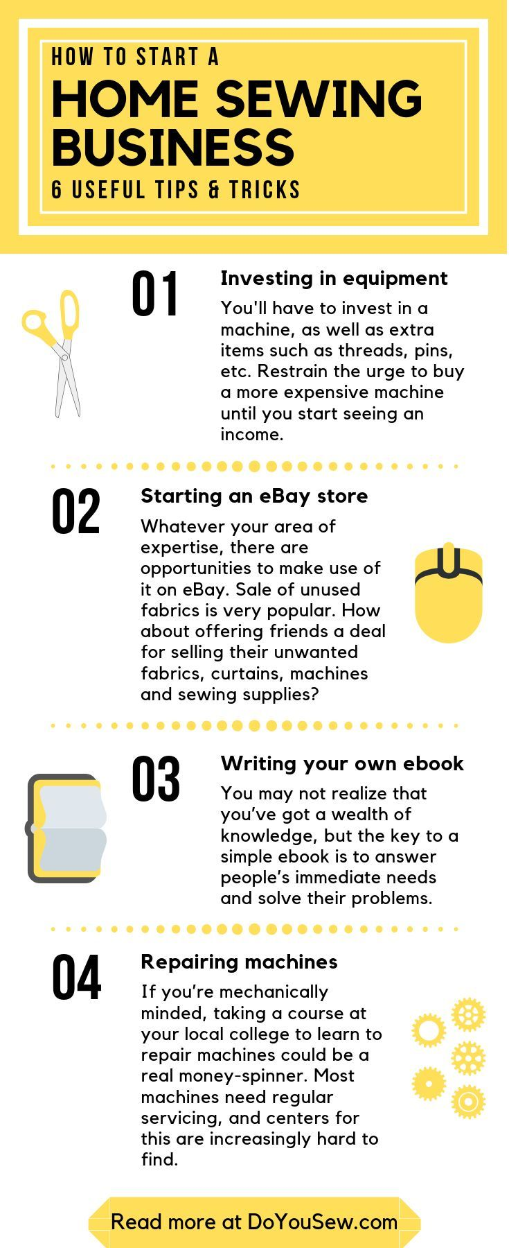 How To Start Your Home Sewing Or Embroidery Business 6 Useful Tips Tricks To Develop A Fully Comme Sewing Business Sewing Machine Reviews Sewing Tutorials