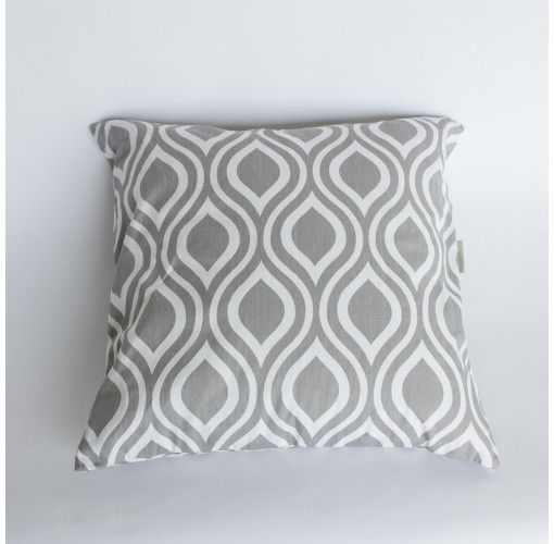 River Cushion in Grey - Handmade in Noosa, these Plump Cushions come in a variety of colours and patterns to compliment any decor.