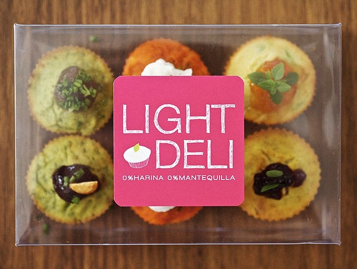 """Light and Deli"" Label Design_Pink_by FOOD & EVENT"
