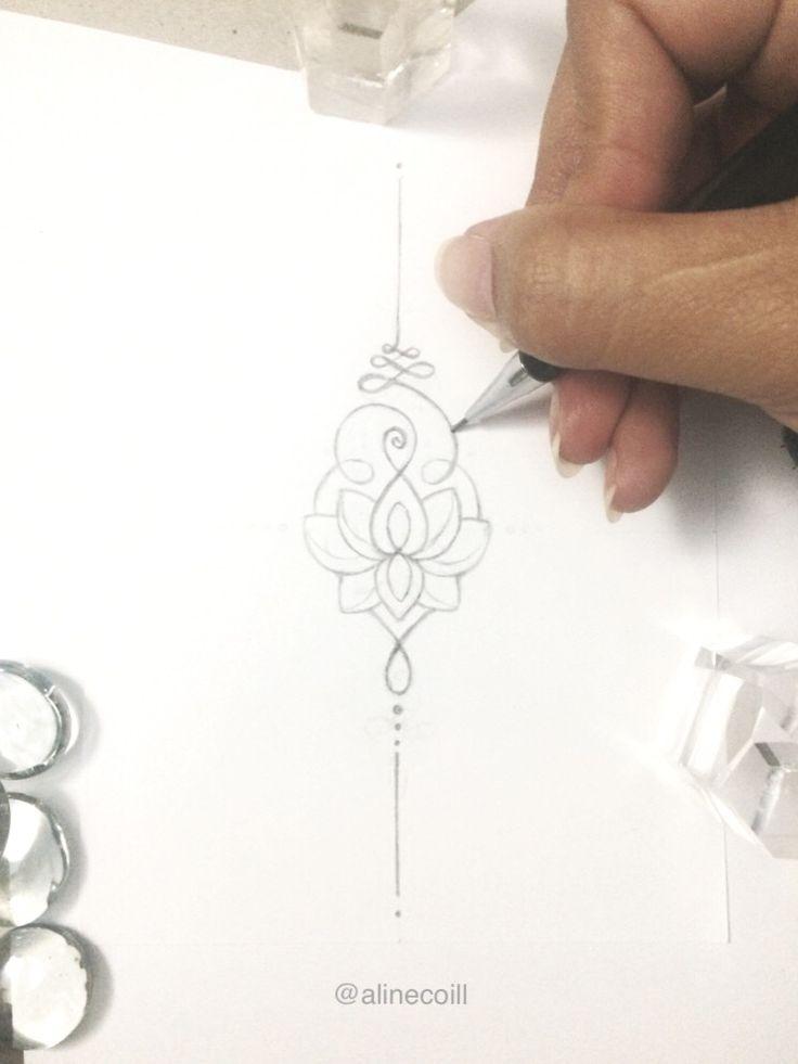 Unalome Lotus Tattoo