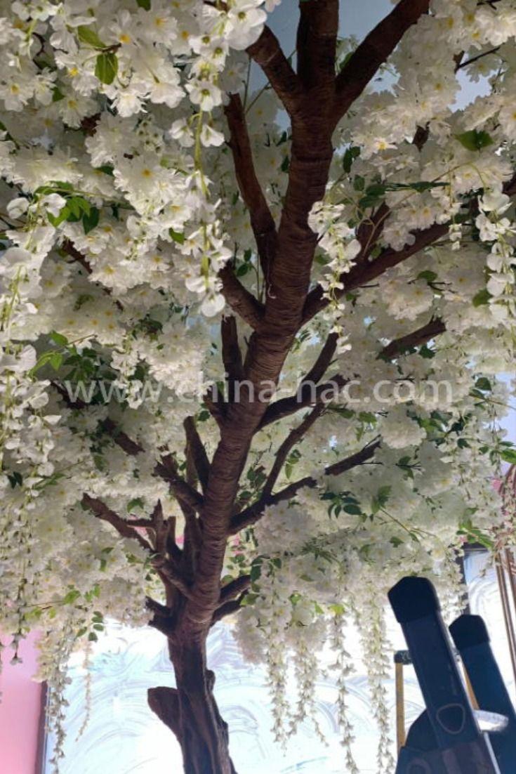 Greeting Cherry Blossom Tree White Wisteria Flower Artificial Cherry Blossom Tree Cherry Blossom Tree Wisteria Tree