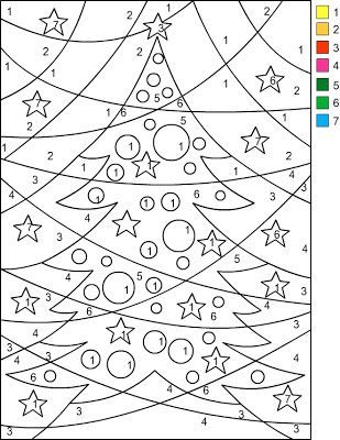 Nicole's Free Coloring Pages: CHRISTMAS * Color by Number ( I copy and paste the picture to a word document,adjust the size.center the picture then print):