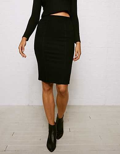 d92a9f40d0 Don't Ask Why Ribbed Pencil Skirt - | The Office | Pencil skirt black,  Skirts, Soft pants