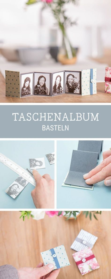 Kleines Fotoalbum selbermachen, DIY für ein Leporello, Geschenkidee für die beste Freundin / best friend giftidea: how to craft a mini photo album via DaWanda.com