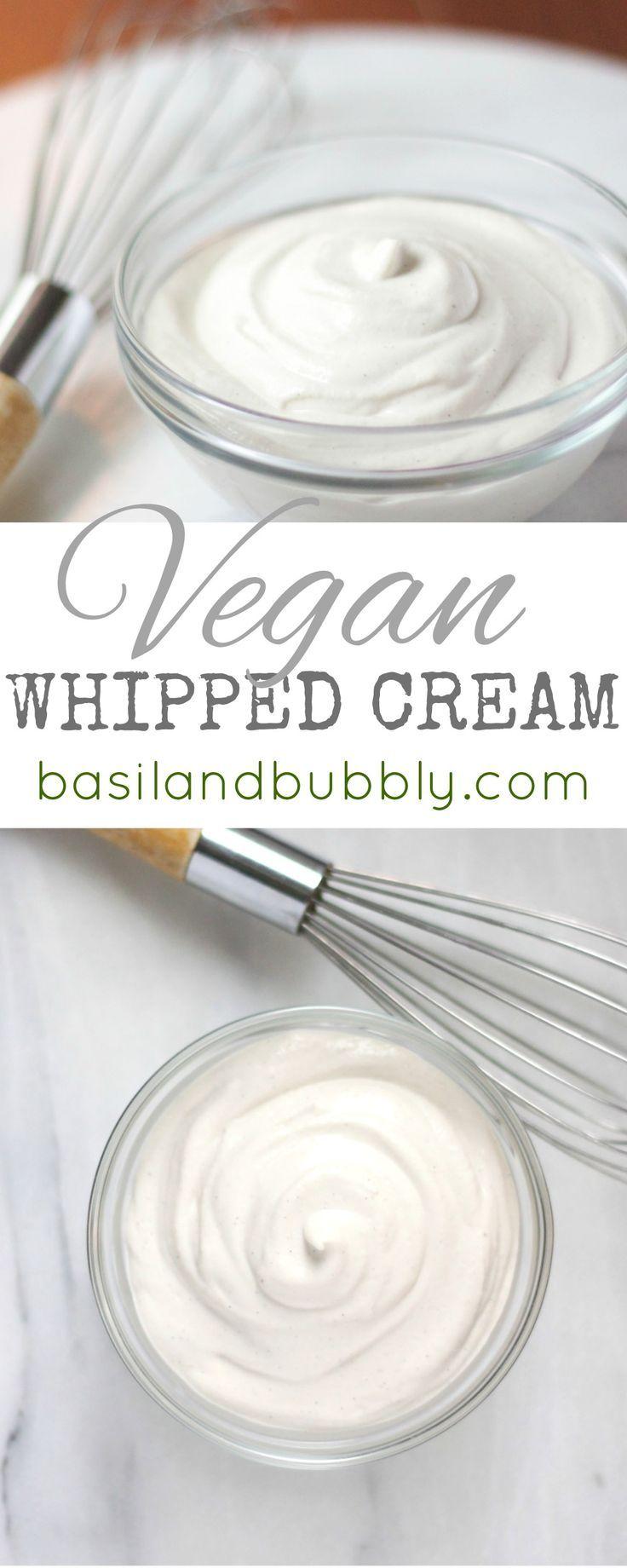 Delicious, creamy, decadent, raw and vegan whipped cream recipe