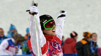 Alex Bilodeau successfully defends gold in Olympic moguls, Kingsbury second