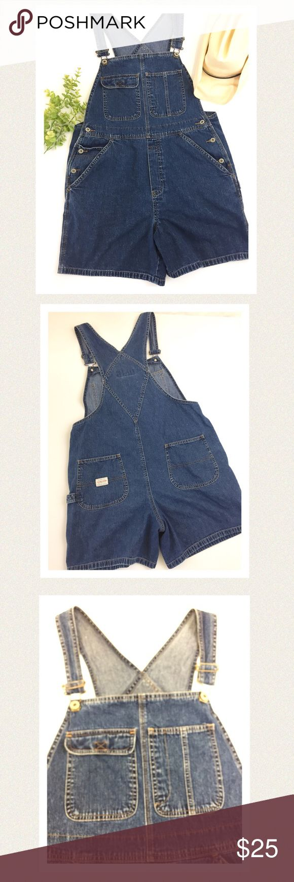 "🆕 Old Navy denim jean overalls So cute and comfy! These adorable denim overalls have detailed stitching on pockets in front and back. Perfect condition. Great for those early spring days. 🔹Length from top of bib to hem 27.5"" 🔹Bib length 11"" 🔹Waist area  38"" 🔹Hip area 43"" 🔹Inseam 6"" 🔹Strap longest length from V in back to end of clasp is 17"" Can be shortened, straps adjustable🔹All measurements are approximate Old Navy Jeans Overalls"