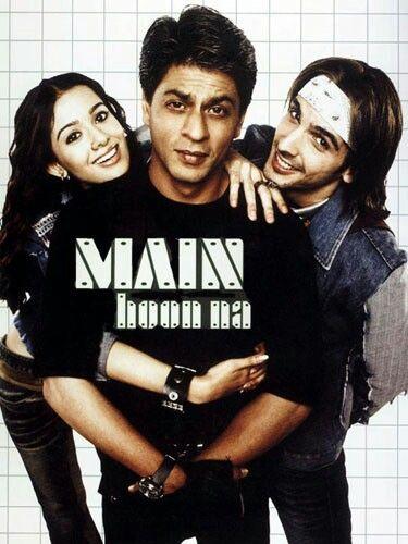 Main Hoon Na w/ Amrita Rao, Shah Rukh Kahn, Zayed Khan, Sunil Shetty, Sushmita Sen, Boman Irani, Naseerudin Shah = own it!
